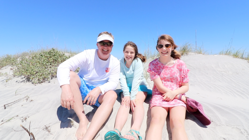 Family at Hunting Island State Park